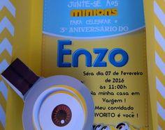 Convite Minions SUPER LINDO