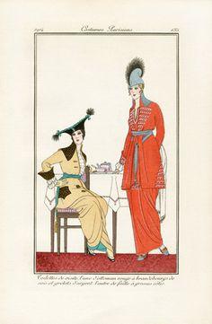 French Fashion Prints, Costumes Parisiens 1912