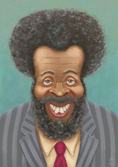 Very cool portrait painting of Brother Whitman Mayo Spr Delta Pi .known as Grady Wilson from Sanford and Son classic TV show. Funny Caricatures, Celebrity Caricatures, Black Cartoon, Cartoon Art, Cartoon Drawings, African American Art, African Art, Sanford And Son, Black Art Pictures