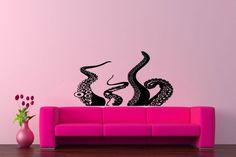 Wall Decor Vinyl Sticker Room Decal Art Tattoo Sea Ocean Monster Octopus #606 #3M