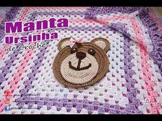 Joanne Archambault shared a video Manta Crochet, Crochet Bear, Crochet Granny, Baby Blanket Crochet, Crochet Stitches, Free Crochet, Crochet Hats, Booties Crochet, Granny Square Projects