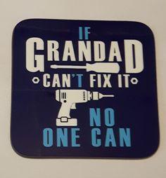 Grandad Coaster Grampa Gift Gramps Dad Father