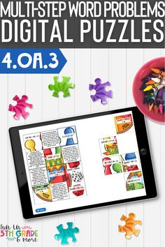 Your students will be experts at solving multi-word problems with these digital puzzles. These differentiated digital puzzles are interactive, fun Learning Resources, Fun Learning, Math Websites, Math Strategies, 4th Grade Math, Free Math, Math Facts, Help Teaching, Activity Centers