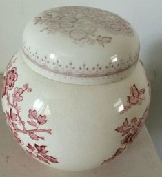 A vintage Masons Patent Ironstone ginger jar in pink & white. Masons, Ginger Jars, Home Decor Styles, Pink White, 1950s, Porcelain, Amp, Glass, Ebay
