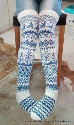 Suomi Juhlavuoden kirjoneulesukat- by Minna Leinonen-Tyni Design Crochet Socks, Knit Or Crochet, Knitting Socks, Hand Knitting, Knitting Patterns, Sexy Socks, Cute Socks, Funky Socks, Wool Socks