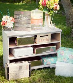 Chalk Finish Dresser and Card Box