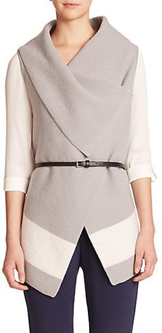 Joie Ligiere Colorblock Wool Vest