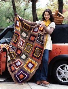 retro inspired Granny-Afgan
