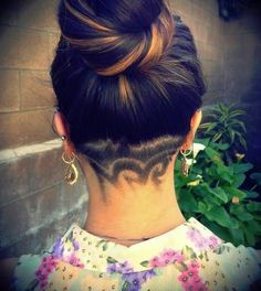 under shaved hair designs - Bing Images Medium Hair Styles, Short Hair Styles, Natural Hair Styles, Undercut Hairstyles, Cool Hairstyles, Undercut Girl, Undercut Women, Bouffant Hairstyles, Beehive Hairstyle