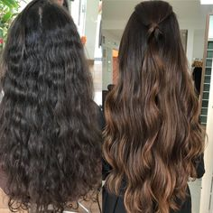 Brown Hair Balayage, Hair Color Balayage, Hair Highlights, Ombre Hair, Caramel Balayage, Bayalage, Hair Color For Black Hair, Hair Looks, Dyed Hair
