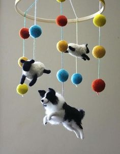 Border Collie Mobile I can think of about a dozen people who would LOVE this !!!!  #about #border #collie #dozen #mobile #people #think