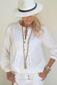 NORAH Linen shirt, White