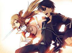Kirito and Asuna.