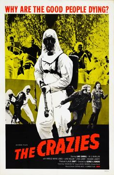 """A biological weapon gone awry is only the start of problems for a small Pennsylvania town."" Find THE CRAZIES directed by George A. Romero (Night of the Living Dead) in our catalog: http://highlandpark.bibliocommons.com/item/show/2126121035_the_crazies"