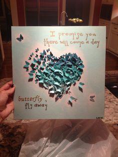dorm craft. love the butterflies :)