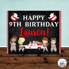Ghostbusters Birthday Sign Ghostbusters Party by ERRdesigns