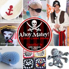 11 Pirate Crochet Patterns | roundup compiled by Little Monkeys Crochet