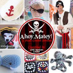 11 Pirate Crochet Patterns | roundup compiled by Little Monkeys Crochet