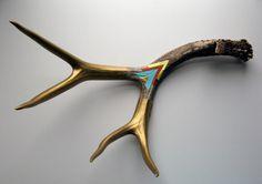 Oh deer oh deer -Cassandra Smith Painted Antlers
