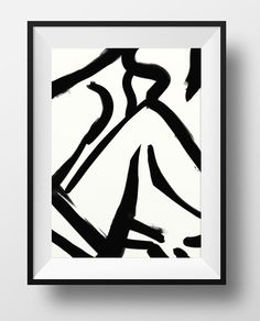 Abstract painting. Ink Painting on paper minimal by DanHobdayArt