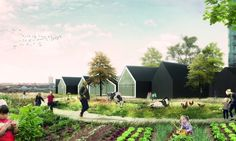 """Nursery Fields Forever"" is an innovative design proposal that fuses urban farming with nursery education."