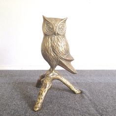 Vintage Brass Owl by thevintagetreehouse on Etsy, $36.50