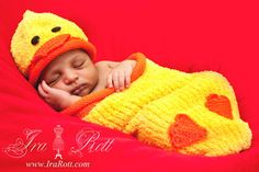 Ducky Hat and Cocoon Set for Newborn  READY to Ship by IraRott, $45.00