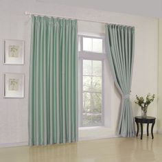 IYUEGO Modern Classic Sky Blue Solid Double Pleated Top Lining Blackout Window Curtains/Drape/Panels/Treatment With Multi Size Custom W x L (One Panel) ** Click image for more details. (This is an affiliate link) Curtains And Draperies, Room Darkening Curtains, Green Curtains, Curtains For Sale, Panel Curtains, Stripe Curtains, Drapery, Natural Home Decor, Baroque