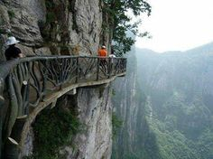 Cliffside Steps, Hunan, China. One Of The most dangerous roads in the world!
