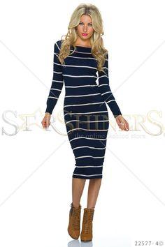 Classic Lines DarkBlue Dress