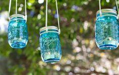 Vintage Mason Jar Votives | DIY | by Darby Smart | #fashion