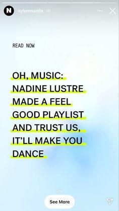 Photoshoot Bts, Nadine Lustre, Feel Good, Magazine, Dance, Make It Yourself, Feelings, Reading, Music
