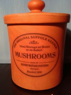 Henry Watson Pottery terracotta Original Suffolk  Mushroom Keeper