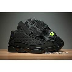 "a86c63621768 Air Jordan 13 ""Black Cat"" Black Anthracite-Black Men s And Women s Size"
