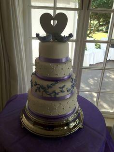 Birds of a feather 4 Tier white & purple wedding cake Forest Wedding, Purple Wedding, Bird Feathers, Wedding Season, Weddingideas, Wedding Cakes, Birds, Weddings, Wedding