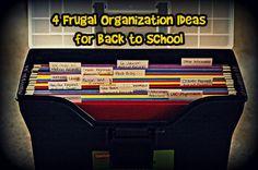 Frugal Back to School Organization Ideas