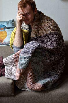 Garter Squish 2 by westknits. Twist or Worsted malabrigo yarn.