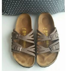 Birkenstocks Very cute Birkenstocks. Only worn a few times so they are in great condition! Birkenstock Shoes Sandals