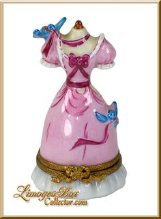 Cinderella's Ball Gown Walt Disney Limoges box by Artoria - a Rare and Retired Limoges box www.LimogesBoxCollector.com, Limoges Box Specialists with the largest selection of Limoges porcelain figurines and gifts!