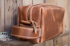 755f31c8ef Famous Horween Leather Men s Toiletry Bag Dopp Kit Shaving Bag Groomsman  Gift Wedding Present Men s Christmas