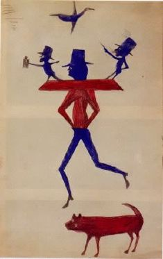 Self taught artist Bill Traylor's preserved works. Traylor spent most of his life as a slave and a sharecropper.