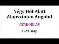 Gyakorlás 1-21. nap - YouTube Learn English, English Language, Nap, Cards Against Humanity, Education, Youtube, Film, Learning English, Movie
