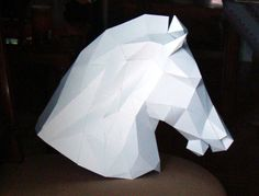 LOW POLY HORSE HEAD CONSTANTONOPLES' HIPPODROME   Paper Pattern sell on Etsy