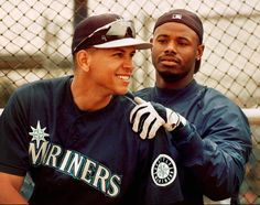 Ken Griffey, Jr. with Alex Rodriguez when they were both on the Seattle Mariners
