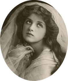 A Wistful Victorian Beauty. Circa Late 19th Century.
