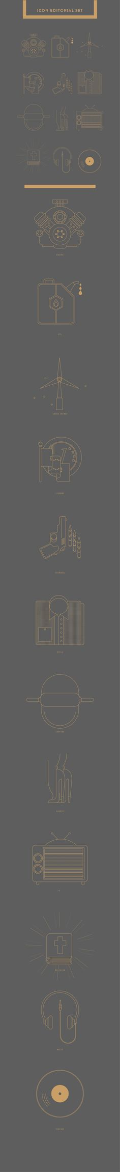 ICON EDITORIAL SET #2 by matteo franco, via Behance