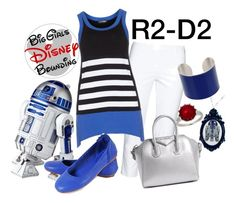 """""""R2-D2 Star Wars Plus Size Disney Bounding"""" by bgdisneybound on Polyvore featuring KJ Brand, R2, Doris Streich, Givenchy, Honora and Maison Margiela"""