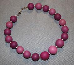 Kudin mukana: Polymeerimassa: pink shades made of polymer clay