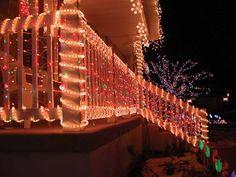 beautiful christmas light ideas with wood fence interior design nice exterior christmas lights decorating ideas christmas exterior - How To Decorate Outdoor Railing For Christmas