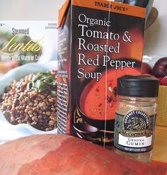 Fastest lentil soup in the West. All ingredients from Trader Joes. #traderjoes #gf
